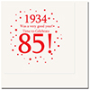 1934 - 85TH BIRTHDAY LUNCHEON NAPKIN PARTY SUPPLIES