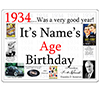 1934 CUSTOMIZED DOOR POSTER PARTY SUPPLIES