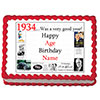 1934 PERSONALIZED EDIBLE ICING IMAGE PARTY SUPPLIES