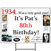 1934 PERSONALIZED YARD SIGN PARTY SUPPLIES