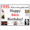 1935 - 84TH BIRTHDAY PLACEMAT PARTY SUPPLIES