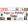 1935 DELUXE PERSONALIZED BANNER PARTY SUPPLIES