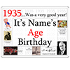1935 CUSTOMIZED DOOR POSTER PARTY SUPPLIES