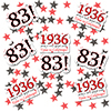 1936 - 83RD BIRTHDAY DECO FETTI PARTY SUPPLIES
