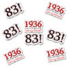 1936 - 83RD BIRTHDAY STICKER SEAL PARTY SUPPLIES