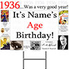 1936 PERSONALIZED YARD SIGN PARTY SUPPLIES