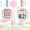 1937 - 82ND BIRTHDAY CUSTOM DANGLER PARTY SUPPLIES