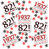 1937 - 82ND BIRTHDAY DECO FETTI PARTY SUPPLIES