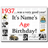 1937 CUSTOMIZED DOOR POSTER PARTY SUPPLIES