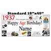 1937 PERSONALIZED BANNER PARTY SUPPLIES