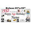 1937 DELUXE PERSONALIZED BANNER PARTY SUPPLIES