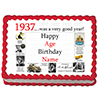 1937 PERSONALIZED ICING ART PARTY SUPPLIES