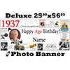 1937 CUSTOM PHOTO DELUXE BANNER PARTY SUPPLIES