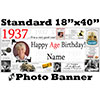 1937 CUSTOM PHOTO BANNER PARTY SUPPLIES