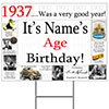 1937 PERSONALIZED YARD SIGN PARTY SUPPLIES