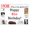 1938 - 81ST BIRTHDAY PLACEMAT PARTY SUPPLIES