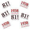 1938 - 81ST BIRTHDAY STICKER SEAL PARTY SUPPLIES