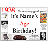 1938 CUSTOMIZED DOOR POSTER PARTY SUPPLIES