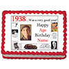1938 PERSONALIZED EDIBLE PHOTO CAKE IMGE PARTY SUPPLIES