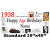 1938 PERSONALIZED BANNER PARTY SUPPLIES