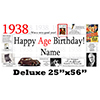1938 DELUXE PERSONALIZED BANNER PARTY SUPPLIES