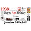 1938 JUMBO PERSONALIZED BANNER PARTY SUPPLIES