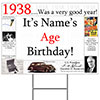 1938 PERSONALIZED YARD SIGN PARTY SUPPLIES