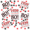1939 - 80TH BIRTHDAY DECO FETTI 24/PKG PARTY SUPPLIES