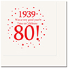 1939 - 80TH BIRTHDAY LUNCHEON NAPKIN PARTY SUPPLIES