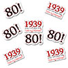 1939 - 80TH BIRTHDAY STICKER SEAL 24/PKG PARTY SUPPLIES