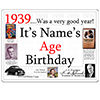 1939 CUSTOMIZED DOOR POSTER PARTY SUPPLIES