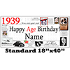 1939 PERSONALIZED BANNER PARTY SUPPLIES