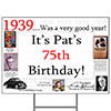 1939 PERSONALIZED YARD SIGN PARTY SUPPLIES