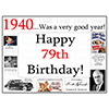 1940 - 79TH BIRTHDAY PLACEMAT PARTY SUPPLIES
