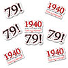 1940 - 79TH BIRTHDAY STICKER SEAL PARTY SUPPLIES
