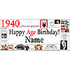 1940 DELUXE PERSONALIZED BANNER PARTY SUPPLIES