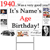 1940 PERSONALIZED YARD SIGN PARTY SUPPLIES