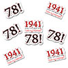 1941 - 78TH BIRTHDAY STICKER SEAL PARTY SUPPLIES