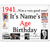 1941 CUSTOMIZED DOOR POSTER PARTY SUPPLIES