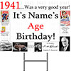 1941 PERSONALIZED YARD SIGN PARTY SUPPLIES