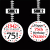 1942 75TH BIRTHDAY CUSTOMIZED DANGLER PARTY SUPPLIES
