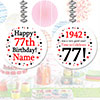1942 - 77TH BIRTHDAY CUSTOM DANGLER PARTY SUPPLIES