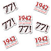 1942 - 77TH BIRTHDAY STICKER SEAL PARTY SUPPLIES