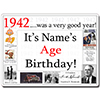 1942 CUSTOMIZED DOOR POSTER PARTY SUPPLIES