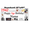 1942 PERSONALIZED BANNER PARTY SUPPLIES