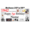 1942 DELUXE PERSONALIZED BANNER PARTY SUPPLIES