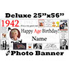 1942 CUSTOM PHOTO DELUXE BANNER PARTY SUPPLIES