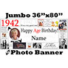 1942 CUSTOM PHOTO JUMBO BANNER PARTY SUPPLIES