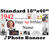 1942 CUSTOM PHOTO BANNER PARTY SUPPLIES