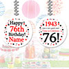 1943 - 76TH BIRTHDAY CUSTOM DANGLER PARTY SUPPLIES